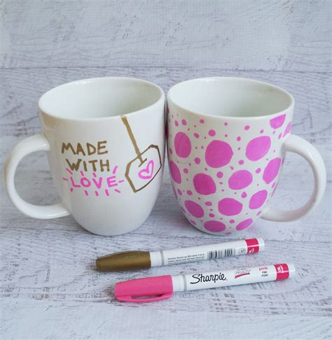 How To Decorate A Coffee Mug - sharpie mug diy project popsugar smart living