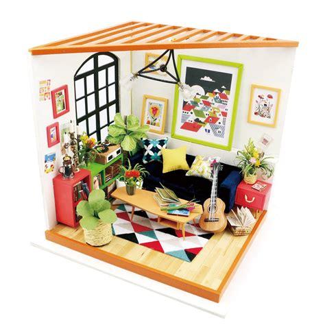 Robotime Diy Miniature Dollhouse Kitdg106locus's Sitting