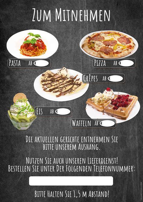 NEU: Wetterfestes Banner mit Speisen zum Mitnehmen und Lieferdienst - eisreklame.de