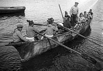 Umiak Boat by Umiak Afloat Alaskan Alaska And History