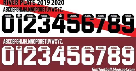 FONT FOOTBALL: Font Vector River Plate 2019 2020 kit