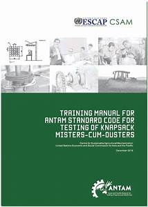 Training Manual For Antam Standard Code For Testing Of