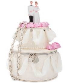 pearl cake topper betsey johnson blue by whole cake shoulder bag in