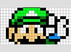 Minecraft Pixel Art Templates Luigi