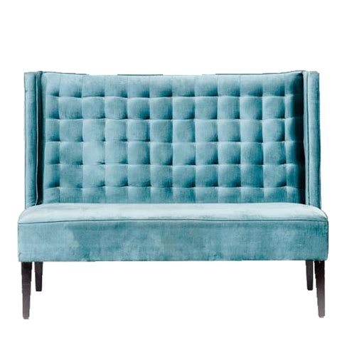 Teal Tufted Sofa by Teal Tufted High Back Sofa Ooh Events Design Center