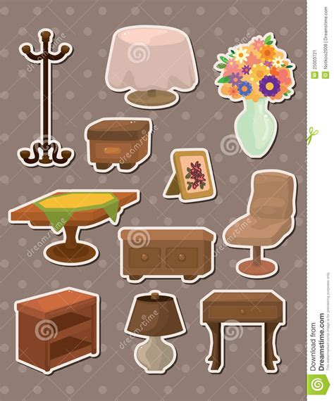 furniture stickers stock vector image  decorative