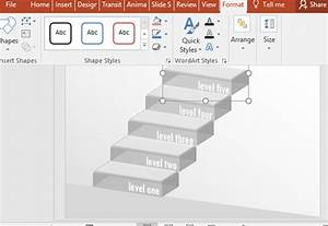 Free Transparent 3d Stairs Diagram For Powerpoint