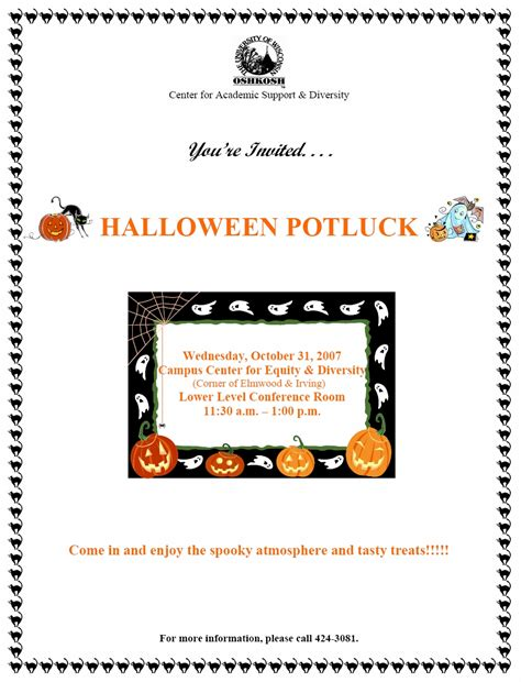 Halloween Potluck Invitation Ideas by Collection Halloween Potluck Invite Pictures Excellent