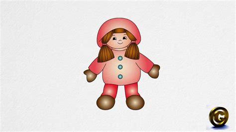 draw  doll step  step youtube