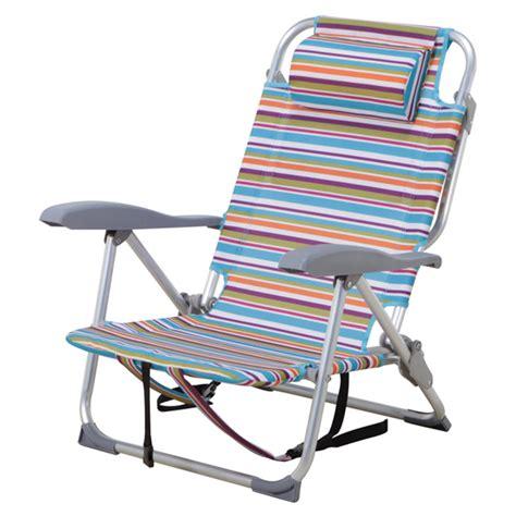 chaise de plage costco chaise de plage ajustable à rayures rona