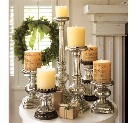 pottery barn candle holders antique mercury glass pillar holders pottery barn au