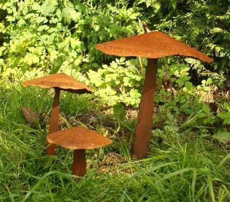 Pilze Garten Deko by Pilze Aus Rost Rostiges