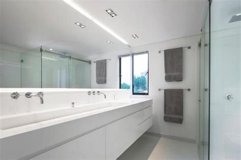 master bathroom  trough sink hgtv