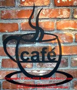 17 best images about cafe au lait kitchen on pinterest With what kind of paint to use on kitchen cabinets for coffee cup metal wall art