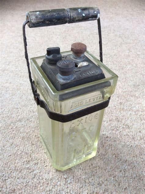 antique glass ls electric antique vintage exide glass jar wet battery accumulator