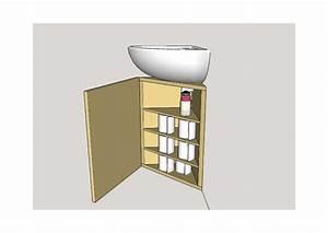 Meuble Vasque Angle : plan meuble vasque wc angle par tacoule38 sur l 39 air du bois ~ Teatrodelosmanantiales.com Idées de Décoration
