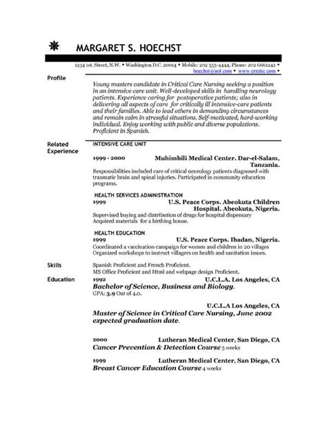 Exle Of Resume by About Resume Exles