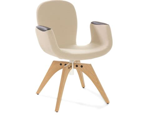 Patch 02 Swivel Armchair With 4 Leg Base