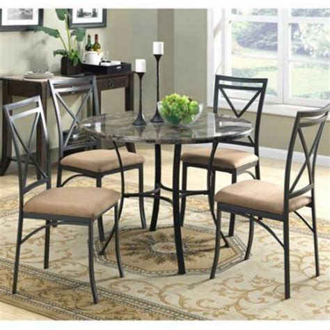 dining set table chairs  marble top  piece metal