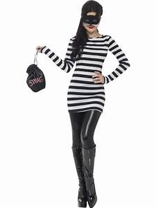 Adult Small Cat Burglar Outfit Fancy Dress Costume Cops ...