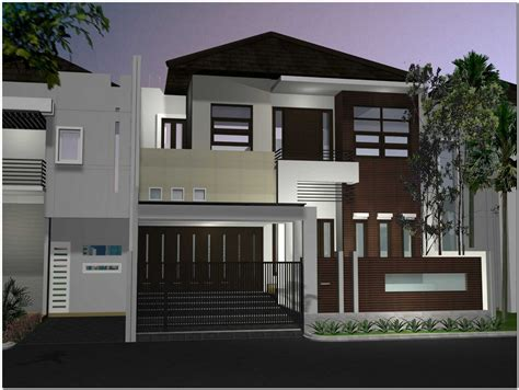 desain rumah 2 lantai minimalis mewah