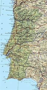 Large detailed map of Portugal with roads, major cities ...