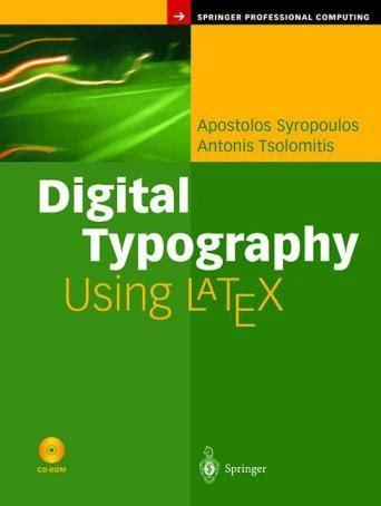 latex book digital typography using