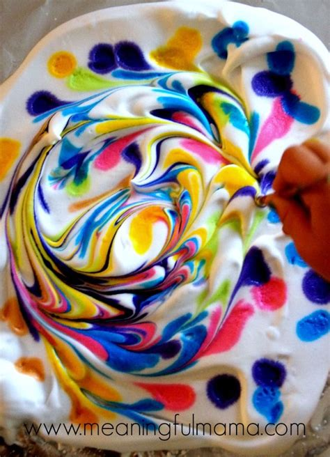 diy marbled paper  shaving cream projects  kids