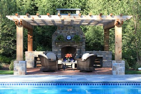 pool pergola pool pergola patio and a fireplace outdoor fireplaces pinterest fireplace tiles