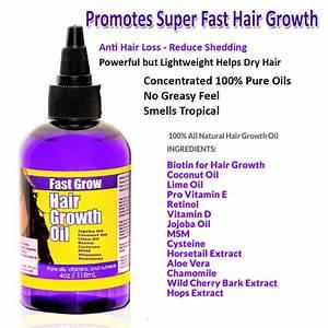 Fast Grow Hair Oil 4oz Coconut Oil Biotin Jojoba MSM And