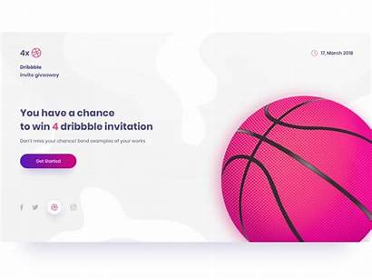Dribbble Invites 4x Psd