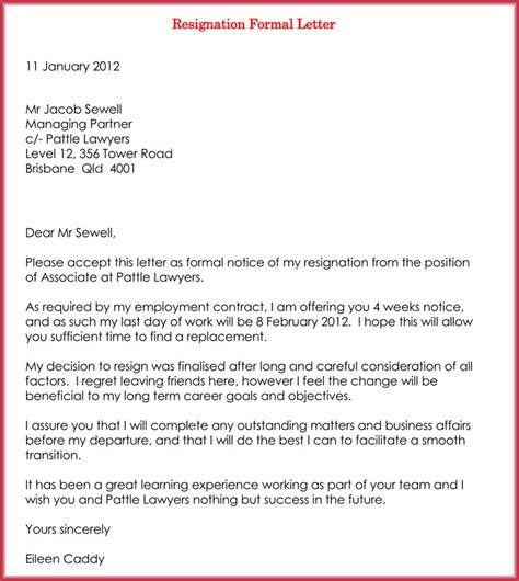 write  resignation letter   professional