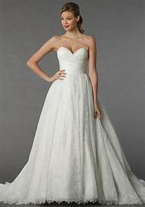 lace ball gown with sweetheart neckline dennis basso for With kleinfeld plus size wedding dresses