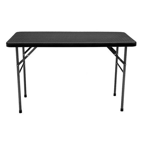 black folding dining table ikayaa 4ft portable folding table outdoor picnic cing