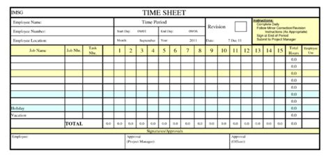 Employee Time Clock In Excel