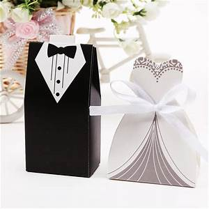 100 pcs bride and groom wedding party favor candy box gift With wedding party favor boxes