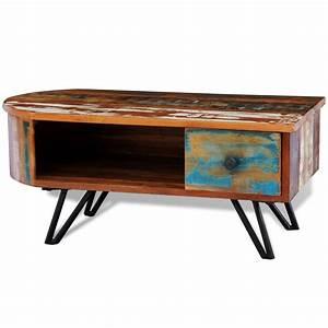Table Basse En Solde : acheter table basse en bois recycl solide avec pieds ~ Teatrodelosmanantiales.com Idées de Décoration