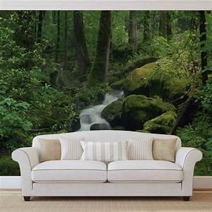 Poster Mural Nature : for t cascade rochers nature poster mural papier peint acheter le sur ~ Teatrodelosmanantiales.com Idées de Décoration