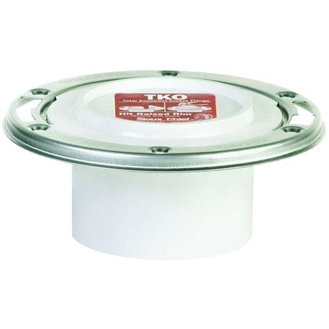 Closet Flanges by Sioux Chief Tko 3 In X 4 In Pvc Dwv Closet Flange With