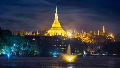Pagoda Shwedagon Myanmar Wallpapers Worship Places Around