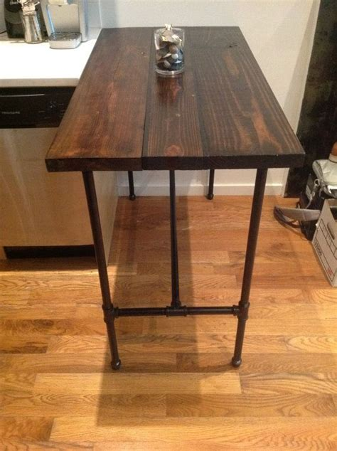 reclaimed wood kitchen table  black pipe legs