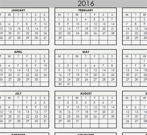 printable calendar  excel templates