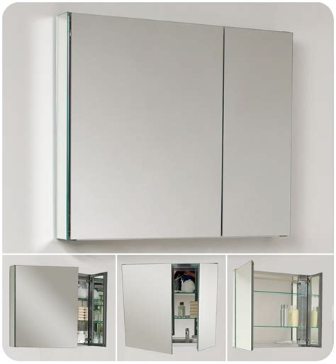 double wide medicine cabinet fresca fmc8090 mirror 30 quot double door frameless medicine