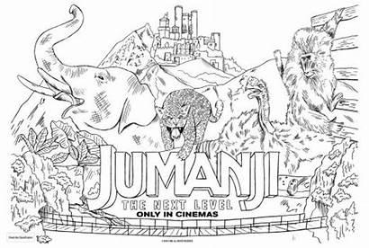 Jumanji Coloring Movie Colouring Template A4
