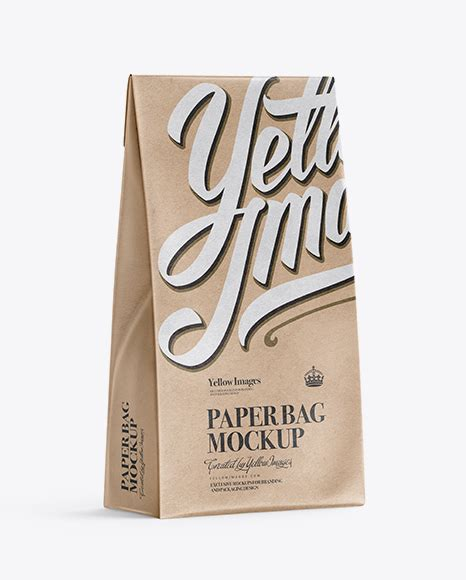 69 items in top and front views. Glossy Paper Bag Mockup - Half Side View - Kraft Paper ...