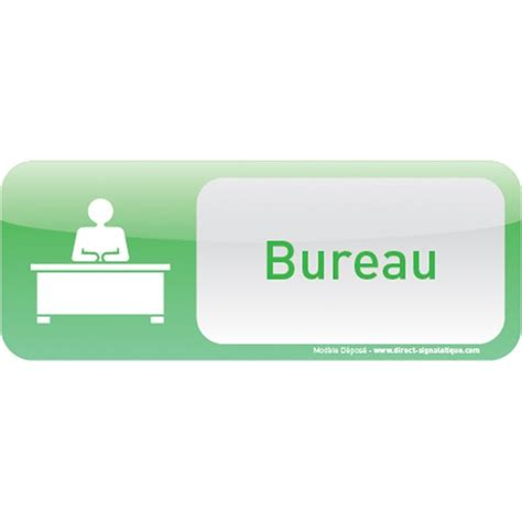 signaletique bureau plaque de porte bureau text icone direct signalétique