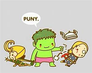 The Avengers: Loki, Hulk & Thor (Cute Cartoon)   adoreable ...