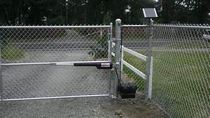 Chainlink Fencing  Black Vinyl Chainlink  Chain Link Fence Gate Opener