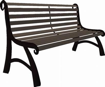 Bench Park Clipart Transparent Furniture Clip Garden