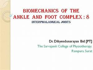 Ankle And Foot Biomechanics 8